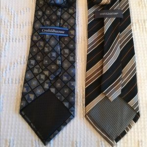 Lot of 2 Croft & Barrow Silk Neckties.